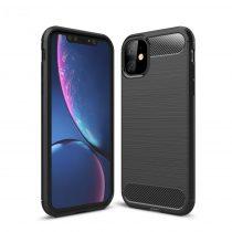 RMPACK iPhone 11 Szilikon Tok Karbon Mintás TPU Fekete