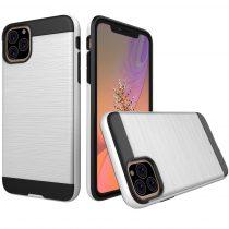 RMPACK iPhone 11 Ütésálló Tok Szálcsiszoltkivitel Ezüst