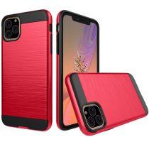 RMPACK iPhone 11 Ütésálló Tok Szálcsiszoltkivitel Piros