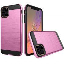 RMPACK iPhone 11 Ütésálló Tok Szálcsiszoltkivitel Rózsaszín