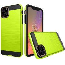 RMPACK iPhone 11 Ütésálló Tok Szálcsiszoltkivitel Zöld