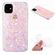 RMPACK iPhone 11 Csillámló Csillogó Szilikon Tok Pink
