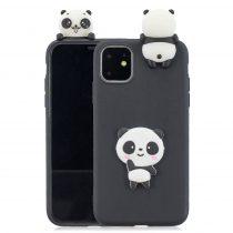 RMPACK iPhone 11 Szilikon Tok 3D Cuki Style Panda Fekete