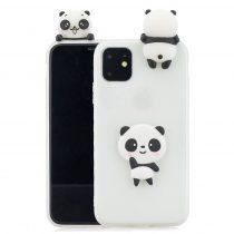 RMPACK iPhone 11 Szilikon Tok 3D Cuki Style Panda Fehér