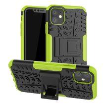 RMPACK iPhone 11 Kitámasztható Ütésálló Tok Cool Tyre Autógumi Mintás Zöld