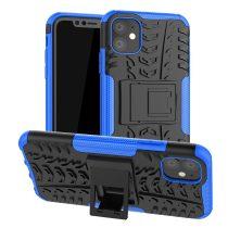 RMPACK iPhone 11 Kitámasztható Ütésálló Tok Cool Tyre Autógumi Mintás Kék