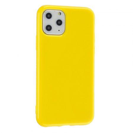 RMPACK iPhone 11 Szilikon Tok Glossy - Fényes Soft TPU Sárga