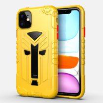 RMPACK iPhone 11 Ütésálló Tok Transformer Hybrid 2in1 Kitámasztható Sárga