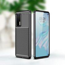 RMPACK Huawei P40 Tok Szilikon TPU Ütésálló New Carbon Fekete