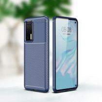 RMPACK Huawei P40 Tok Szilikon TPU Ütésálló New Carbon Sötétkék