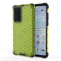 RMPACK Huawei P40 Shock-Proof Szilikon Tok Ütésálló Kivitel Honeycomb Style Zöld