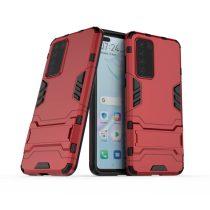 RMPACK Huawei P40 2in1 Tok Ütésálló - Kitámasztható TPU Hybrid Piros
