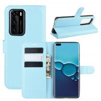 RMPACK Huawei P40 Notesz Tok Business Series Kitámasztható Bankkártyatartóval Világoskék