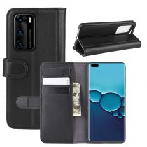 RMPACK Huawei P40 Bőrtok Notesz Kártyatartóval Kitámasztható Fekete