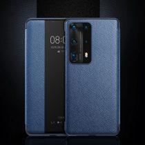 RMPACK Huawei P40 View Window Notesz Tok Mágneses AutoWakeUP Kék