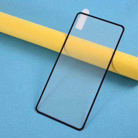 Huawei P40 Képernyővédő Üveg Tempered Glass Full Size Fekete