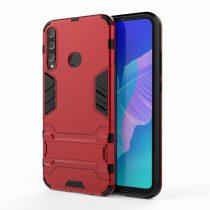 RMPACK Huawei P40 Lite E 2in1 Tok Ütésálló - Kitámasztható TPU Hybrid Piros