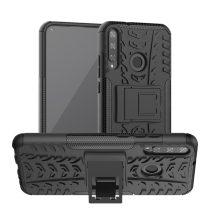 RMPACK Huawei P40 Lite E Ütésálló Tok Kitámasztható 2in1 Hybrid Fekete