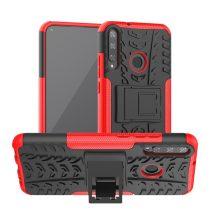 RMPACK Huawei P40 Lite E Ütésálló Tok Kitámasztható 2in1 Hybrid Piros