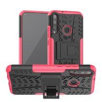 RMPACK Huawei P40 Lite E Ütésálló Tok Kitámasztható 2in1 Hybrid Pink