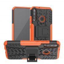 RMPACK Huawei P40 Lite E Ütésálló Tok Kitámasztható 2in1 Hybrid Narancssárga