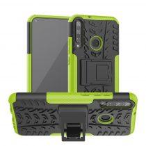 RMPACK Huawei P40 Lite E Ütésálló Tok Kitámasztható 2in1 Hybrid Zöld