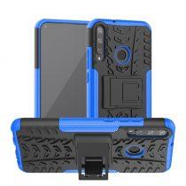 RMPACK Huawei P40 Lite E Ütésálló Tok Kitámasztható 2in1 Hybrid Kék