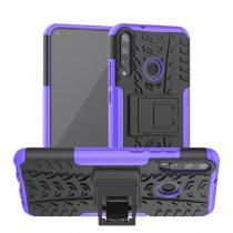 RMPACK Huawei P40 Lite E Ütésálló Tok Kitámasztható 2in1 Hybrid Lila