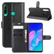RMPACK Huawei P40 Lite E Notesz Tok Business Series Kitámasztható Bankkártyatartóval Fekete