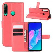 RMPACK Huawei P40 Lite E Notesz Tok Business Series Kitámasztható Bankkártyatartóval Piros