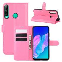 RMPACK Huawei P40 Lite E Notesz Tok Business Series Kitámasztható Bankkártyatartóval Pink