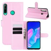 RMPACK Huawei P40 Lite E Notesz Tok Business Series Kitámasztható Bankkártyatartóval Rózsaszín