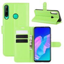 RMPACK Huawei P40 Lite E Notesz Tok Business Series Kitámasztható Bankkártyatartóval Zöld