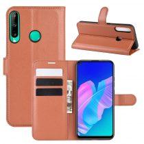 RMPACK Huawei P40 Lite E Notesz Tok Business Series Kitámasztható Bankkártyatartóval Barna