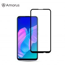 Huawei P40 Lite E Kijelzővédő Üveg - Tempered Glass AMORUS Full Screen Fekete