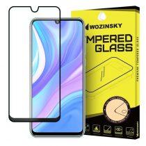Huawei P40 Lite Képernyővédő Üveg Tempered Glass Full Size Fekete