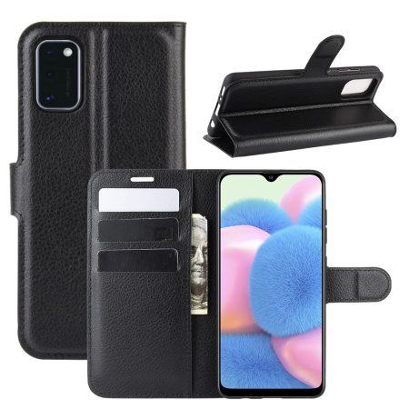 RMPACK Samsung Galaxy A41 Notesz Tok Business Series Kitámasztható Bankkártyatartóval Fekete