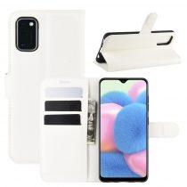 RMPACK Samsung Galaxy A41 Notesz Tok Business Series Kitámasztható Bankkártyatartóval Fehér