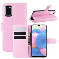 RMPACK Samsung Galaxy A41 Notesz Tok Business Series Kitámasztható Bankkártyatartóval Rózsaszín