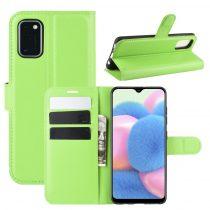 RMPACK Samsung Galaxy A41 Notesz Tok Business Series Kitámasztható Bankkártyatartóval Zöld