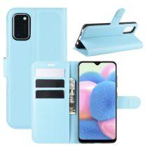 RMPACK Samsung Galaxy A41 Notesz Tok Business Series Kitámasztható Bankkártyatartóval Világoskék