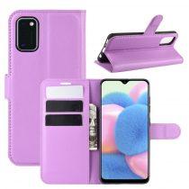 RMPACK Samsung Galaxy A41 Notesz Tok Business Series Kitámasztható Bankkártyatartóval Lila