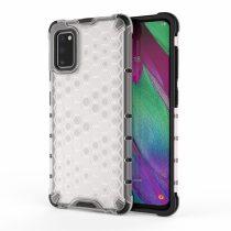 RMPACK Samsung Galaxy A41 Shock-Proof Szilikon Tok Ütésálló Kivitel Honeycomb Style Áttetsző