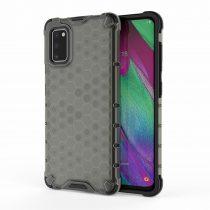 RMPACK Samsung Galaxy A41 Shock-Proof Szilikon Tok Ütésálló Kivitel Honeycomb Style Fekete