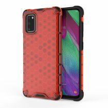 RMPACK Samsung Galaxy A41 Shock-Proof Szilikon Tok Ütésálló Kivitel Honeycomb Style Piros