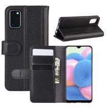 RMPACK Samsung Galaxy A41 Bőrtok Notesz Kártyatartóval Kitámasztható Fekete