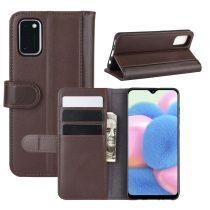 RMPACK Samsung Galaxy A41 Bőrtok Notesz Kártyatartóval Kitámasztható Barna