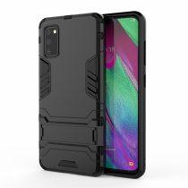 RMPACK Samsung Galaxy A41 2in1 Tok Ütésálló - Kitámasztható TPU Hybrid Fekete