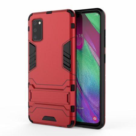 RMPACK Samsung Galaxy A41 2in1 Tok Ütésálló - Kitámasztható TPU Hybrid Piros