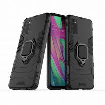 RMPACK Samsung Galaxy A41 Védőtok Ring Guard Gyűrűs 2in1 Tok Ütésálló - Kitámasztható TPU Hybrid Fekete